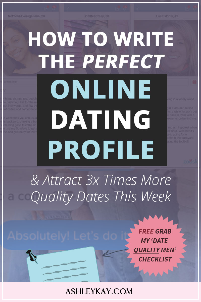A classy, exhaustive profile is key to finding love online.